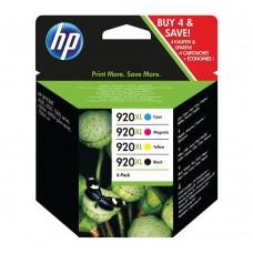 HP 920XL Black /Cyan/Magenta/Yellow High Yield Inkjet Cartridge (Pack of 4) C2N92AE