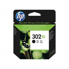 HP 302XL Black Ink Cartridge (High Yield, 480 Page Capacity) F6U68AE