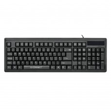 Q-Connect Ergonomic Wired Keyboard Black