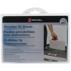 Rexel Shredder Non-Auto Oil Sheets (Pack of 20)