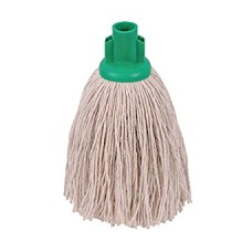 2Work Twine Rough Socket Mop 12oz Green (Pack of 10)