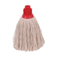 2Work Twine Rough Socket Mop 12oz Red (Pack of 10)
