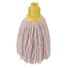 2Work PY Smooth Socket Mop 12oz Yellow (Pack of 10)