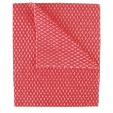 2Work Economy Cloth 420x350mm Red (Pack of 50)
