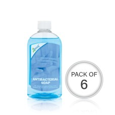 2Work Antibacterial Hand Soap 300ml (Pack of 6)