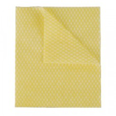 2Work Economy Cloth 420x350mm Yellow (Pack of 50)