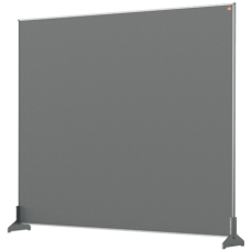Nobo Impression Pro Desk Divider Screen Grey Felt Surface 1200x1000mm
