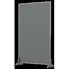 Nobo Impression Pro Desk Divider Screen Grey Felt Surface 600x1000mm