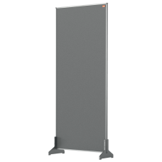 Nobo Impression Pro Desk Divider Screen Grey Felt Surface 400x1000mm