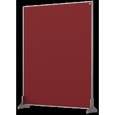 Nobo Impression Pro Desk Divider Screen Red Felt Surface 800x1000mm