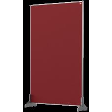 Nobo Impression Pro Desk Divider Screen Red Felt Surface 600x1000mm