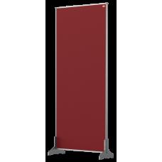 Nobo Impression Pro Desk Divider Screen Red Felt Surface 400x1000mm