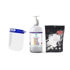 Covid-19 Back to Work Pack with N95 mask, 500ml Hand Sanitiser and Face Shield