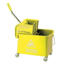 Mobile Mop Bucket and Wringer 20 Litre Yellow