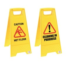 2Work Caution Folding Safety Sign Yellow