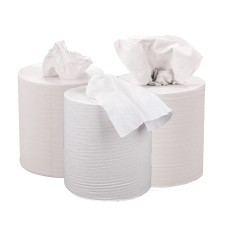 2Work 2-Ply Centrefeed Roll 150m White (Pack of 6)