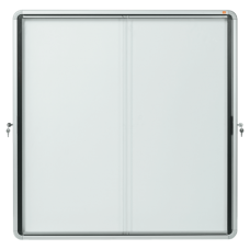 Nobo Internal Glazed Case 12xA4 Magnetic Sliding Door