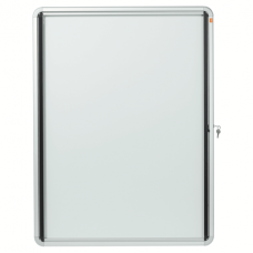 Nobo External Glazed Case 12xA4 White Magnetic
