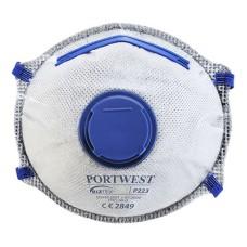 P223 - FFP2 Carbon Valved Dolomite Respirator White (Pack 10)
