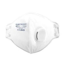 P351 - FFP3 Valved Dolomite Fold Flat Respirator White (Pack 20)