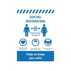 Social Distancing A1 Poster - 594mm x 841mm (Pack of 10)