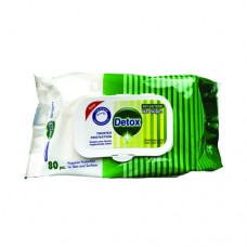 Detox Anti Bacterial Wipes Pine (Pack of 80)